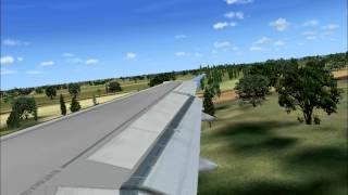 Interjet A320 landing in Cancun, FSX