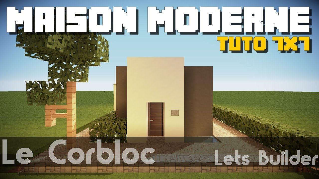 Minecraft - Tuto Maison Moderne 7x7 - YouTube