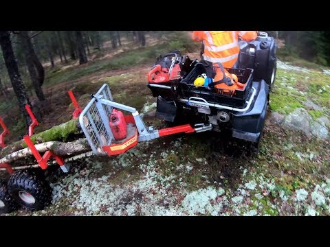 A Day Of Logging In The Rain! | Getting Stuck With The ATV