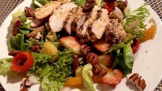 Куриный салат с фруктами  Пошаговый рецепт