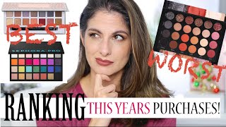 All the Eyeshadows I bought in 2019 Ranked! Ranking NEW eyeshadow Palettes!