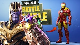 FORTNITE: ¡RETO DE IRON MAN VS THANOS! 😱 ¡LA BATALLA LEGENDARÍA EN DIRECTO!