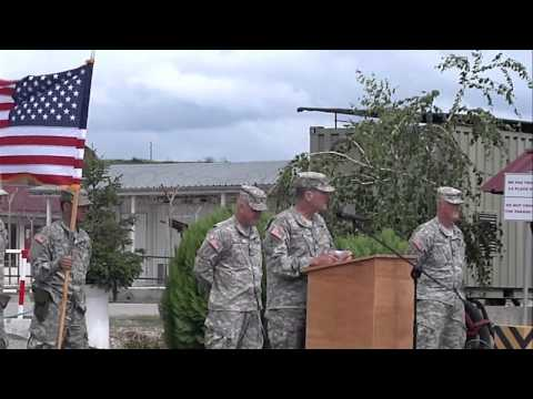 Kosovo Forces Forward Command Post Transfer of Authority