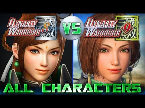 Dynasty Warriors 9 All 64 Characters Revealed So Far Compared to Dynasty Warriors 8 [Updated]