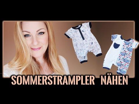 baby-sommerkleidung-nähen-für-anfänger-+-schnittmuster---spieler-/-kurz-strampler-/-overall-gr-56-62