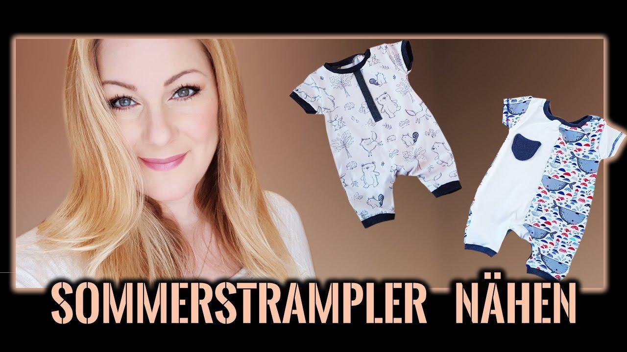 Baby Sommerkleidung nähen für Anfänger + Schnittmuster - Spieler ...