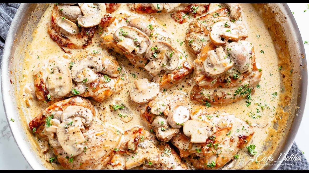 Keto Chicken Tighs With Mushrooms Sauce