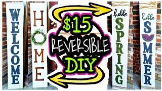 Dollar Tree DIY Porch Decor / Real Wood DIY Porch Sign
