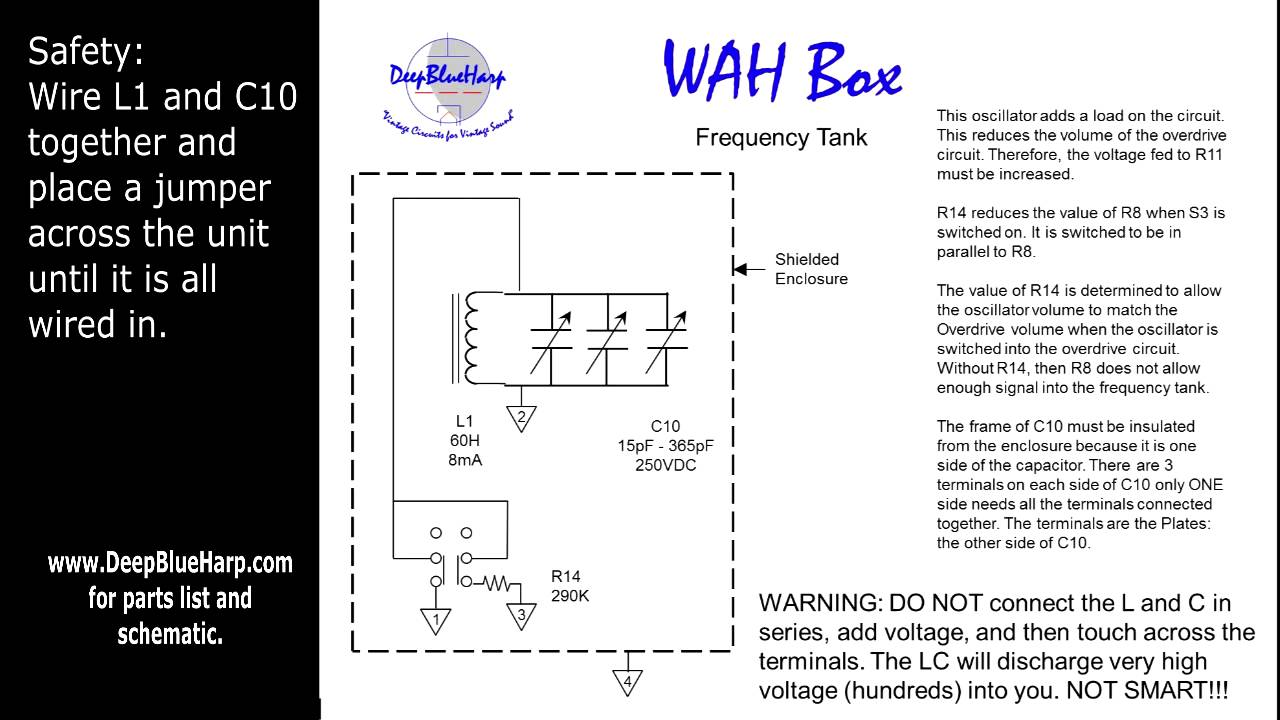 The Wah Box Circuit Wah Schematic on