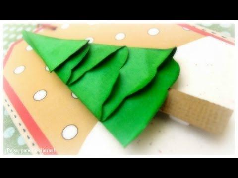Dn1 c mo hacer un abeto de papel tutorial rbol de - Como hacer targetas de navidad ...