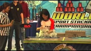 Individual Female 3-6-3 Sport Stacking World Record 2.159 (Chu-Chun Yang)