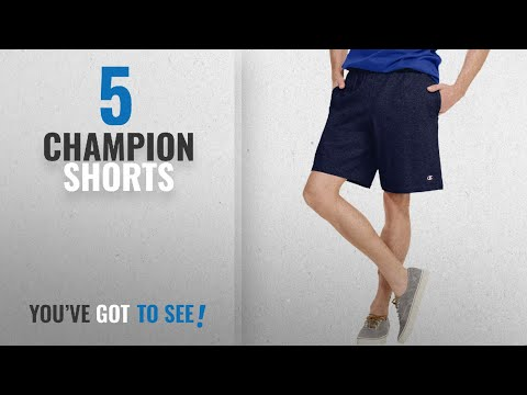 top-10-champion-shorts-[2018]:-champion-authentic-men`s-cotton-jersey-9-inch-shorts-with-pockets