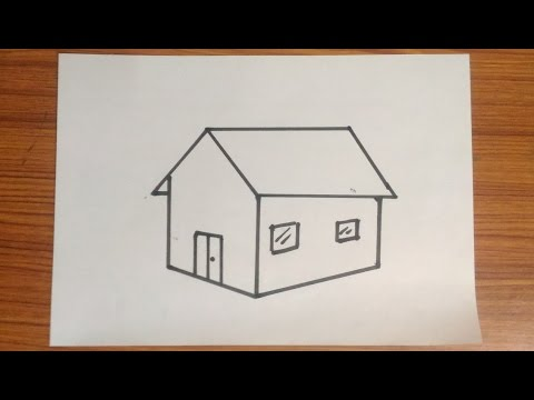 How to draw house very easy drawing for kids