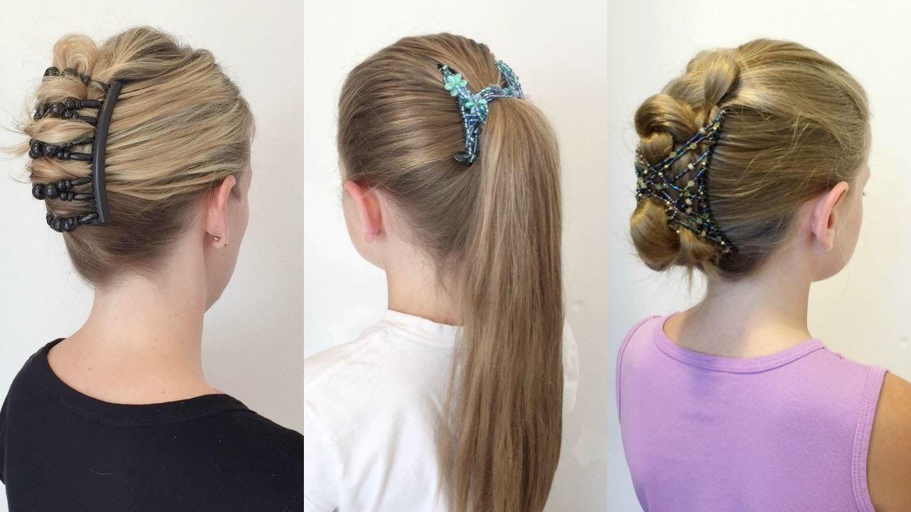 3 Easy Hairstyles with Hair Zings - YouTube