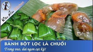 How to make Hue's Bánh Bột Lọc with banana leaves!