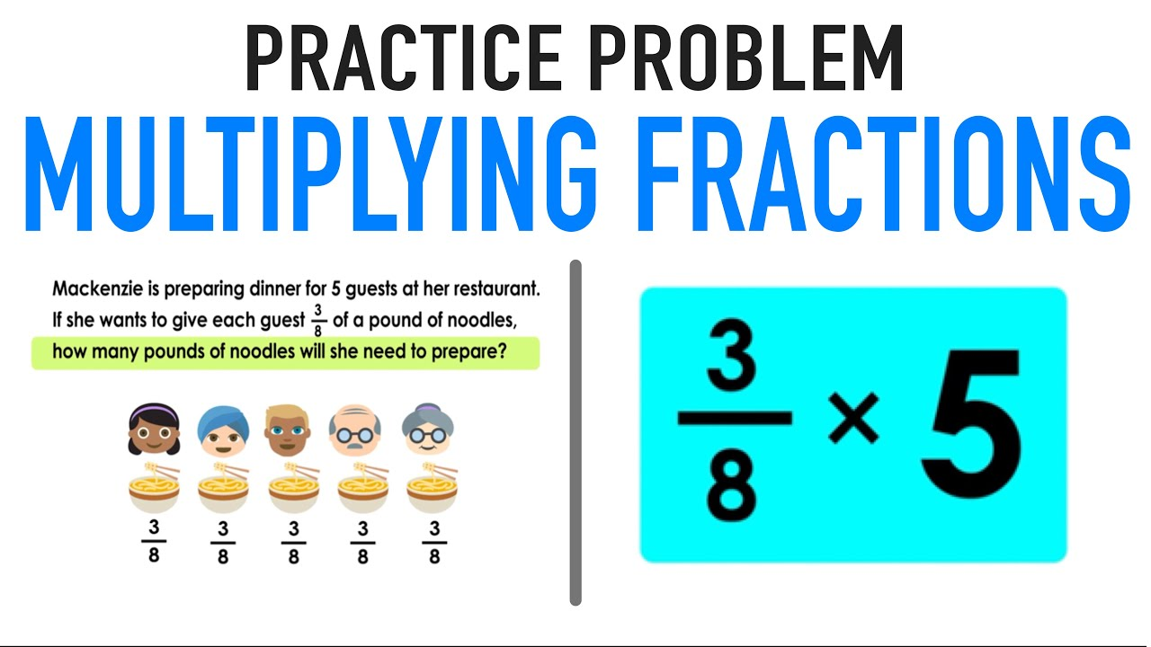 medium resolution of Multiplying Fractions by Whole Numbers Practice Problem! - YouTube
