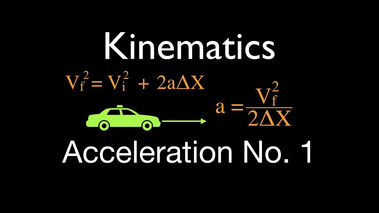 physics kinematics of d horizontal motion solve for  physics kinematics 2 of 7 1 d horizontal motion solve for acceleration no 1