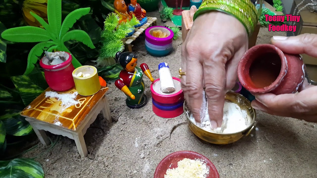 Miniature Village Cooking Style - Kajji Kayalu - Dagudumoothalu Game HD Video