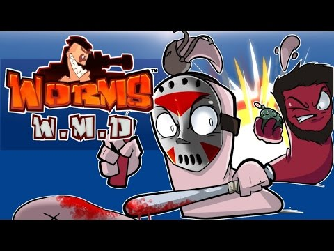 WORMS WMD - Delirious Army Attack!!!!! 1v1v1v1