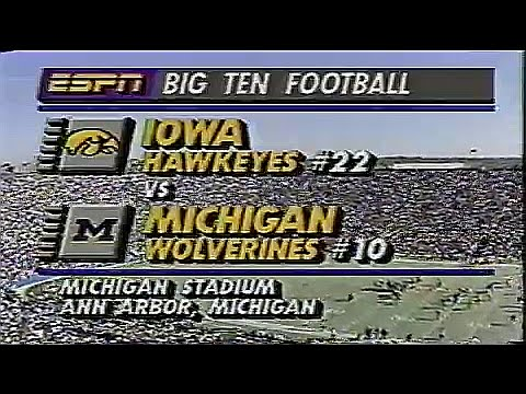 1990 Big 10 Football: #22 Iowa Hawkeyes @ #10 Michigan Wolverines