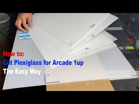 "How to: Cut Plexiglass for Arcade 1up 20"" screen mod The Easy Way from 2LiveIV"