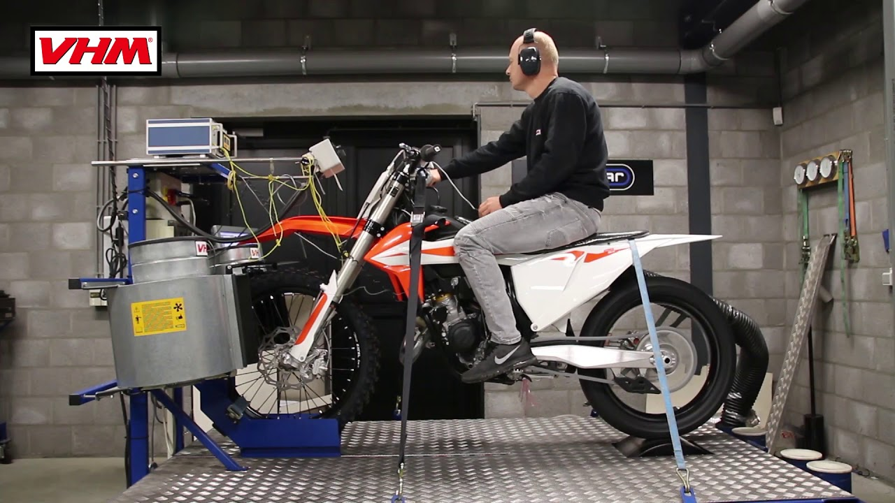 Dyno Test Ktm 125sx 2019 With Vhm Cylinder Head Insert And 12 Degree Piston Including Dyno Graph Youtube
