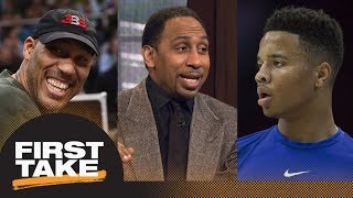 Stephen A. Smith blames LaVar Ball for Markelle Fultz's shooting struggles | First Take | ESPN