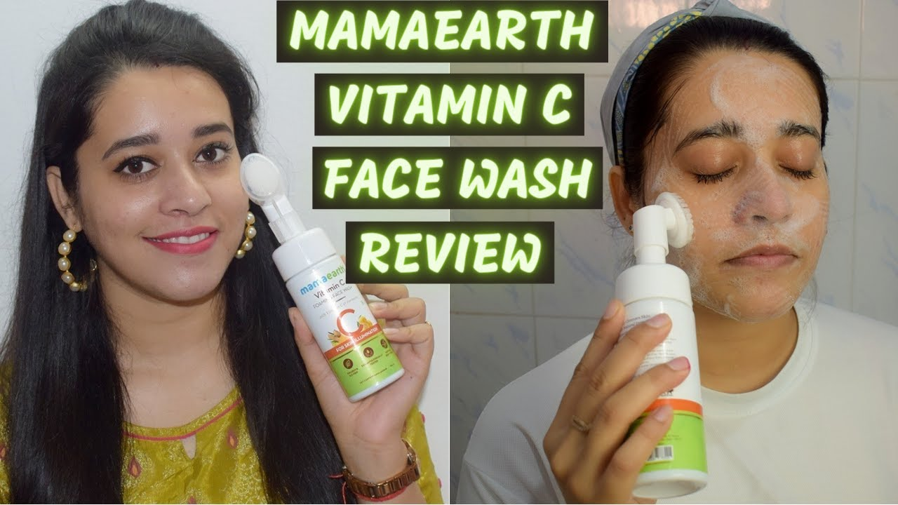 Mamaearth Vitamin C Foaming Face Wash Review & Demo | Skin Brightening Face Wash | Just another girl - YouTube