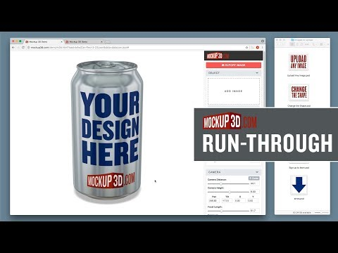 Mockup 3D Run-Through – An online 3D app for designers.