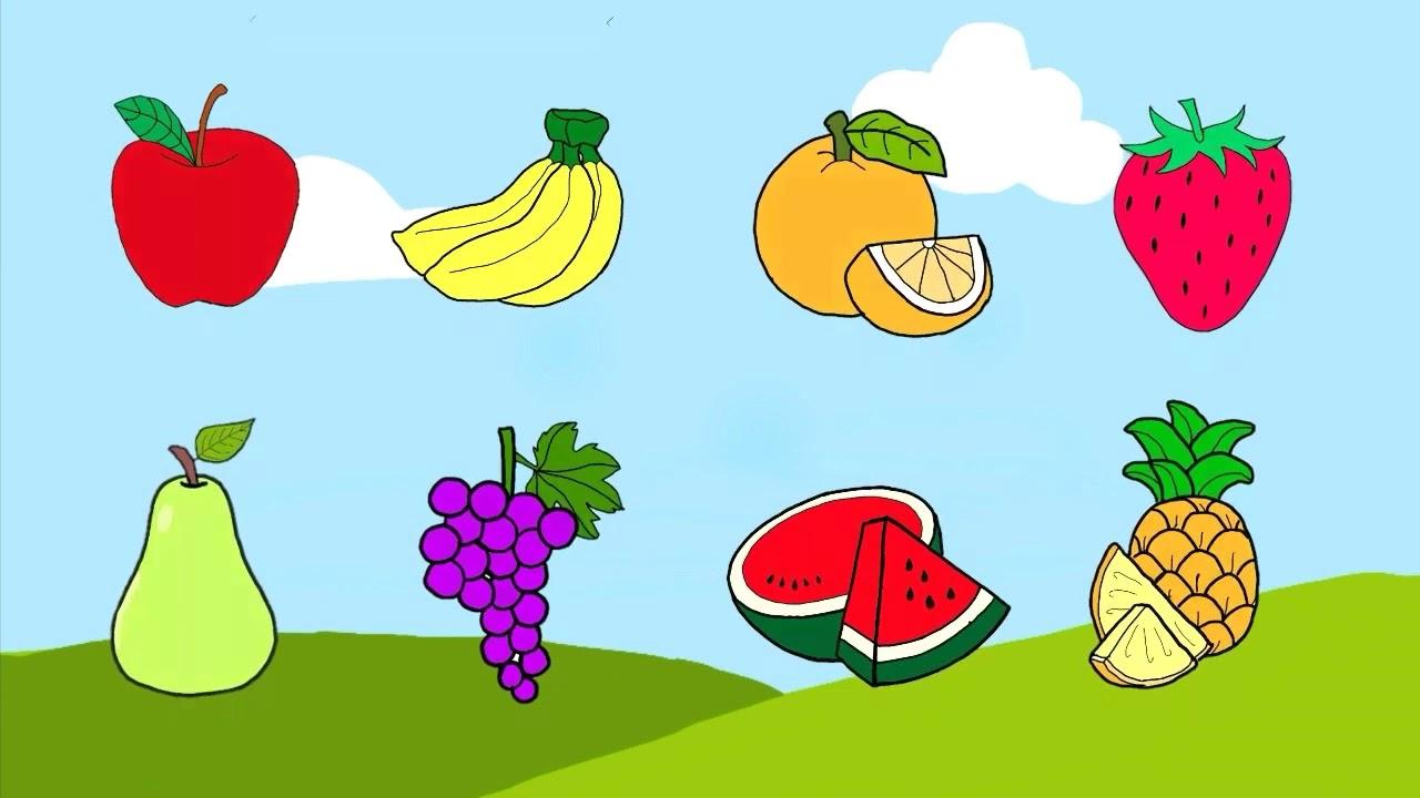 Apprendre Les Fruits Et Les Légumes En Français - YouTube