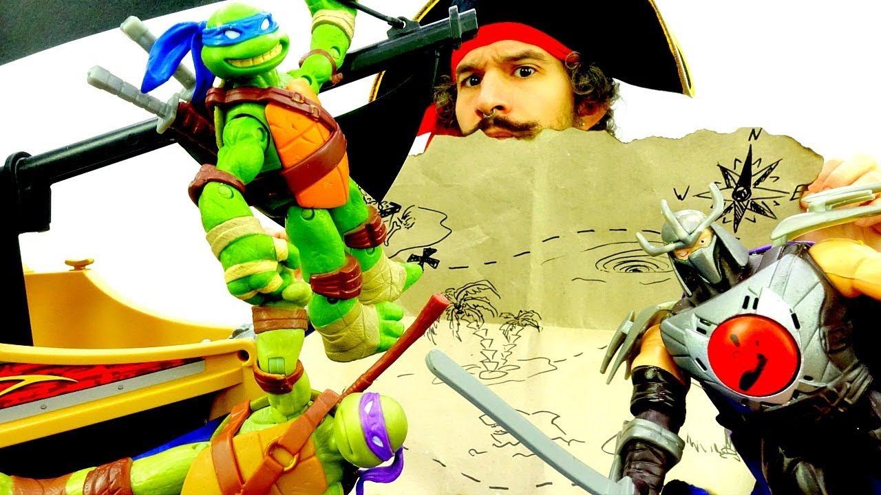 Черепашки Ниндзя и сокровища пиратов! Игры для мальчиков ...