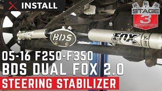 2005-2016 F250 & F350 4WD BDS Fox 2.0 Dual Steering Stabilizer Kit Install