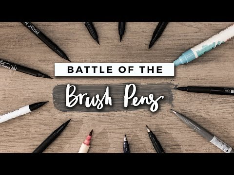 Which Brush Pen Is The Best?! | STATIONERY SHOWDOWN