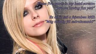 Avril Lavigne - How You Remind Me (HQ-HD lyrics + Hungarian translation) Resimi