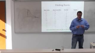 Statistics 23: Wilcoxon One-Sample Signed Ranks Test