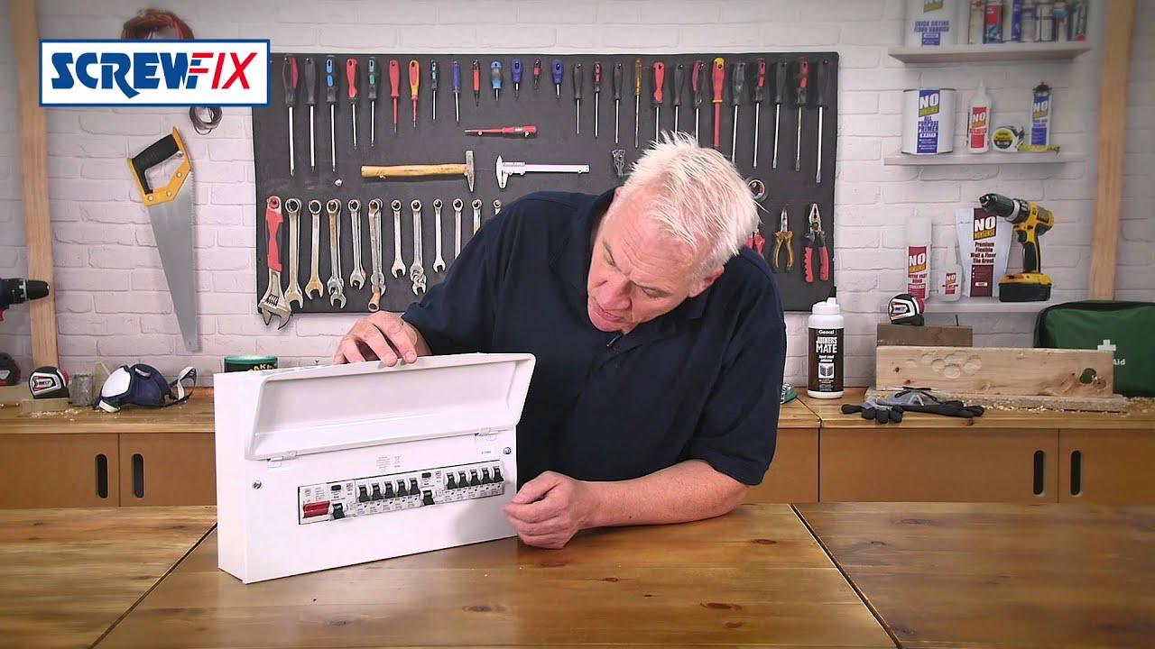 Mk Sentry 16 Module 10 Way Metal Split Load Consumer Unit Screwfix House Wiring Diagram Garageconsumer Youtube