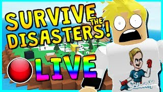 🔴 SURVIVE THE DISASTERS WITH SUBSCRIBERS!? | ROBLOX LIVESTREAM | COME HANG OUT!
