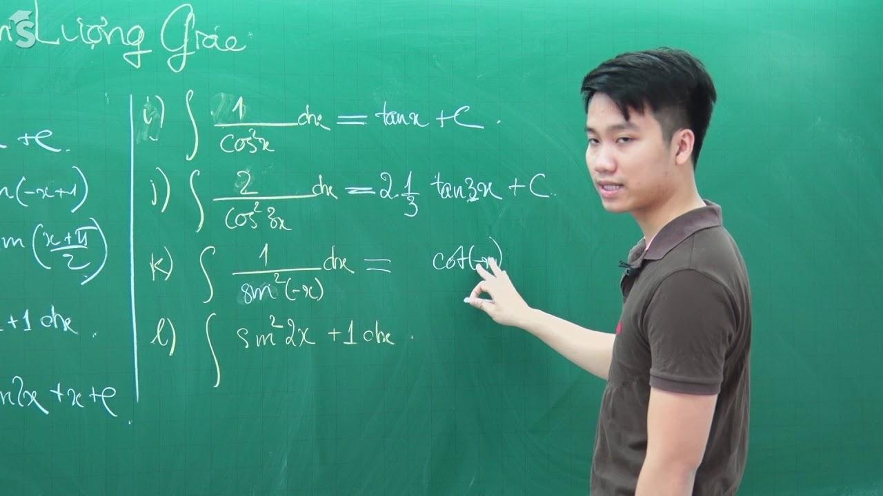 Nguyên hàm lượng giác – Môn Toán lớp 12 – Thầy Nguyễn Quốc Chí