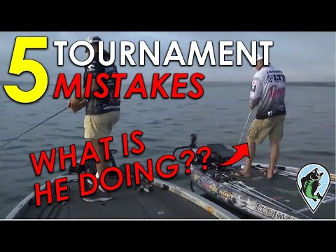 Top 5 Mistakes Tournament Fisherman ALWAYS Make | Bass Fishing Tournament Instruction And Tips