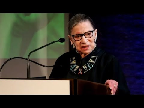Justice Ruth Bader Ginsburg in hospital with fractured ribs
