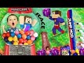 BOY TRAPPED IN GUMBALL MACHINE! Minecraft Fantasia Lucky Block Race + Wall Jump Mod (FGTEEV Fun!)