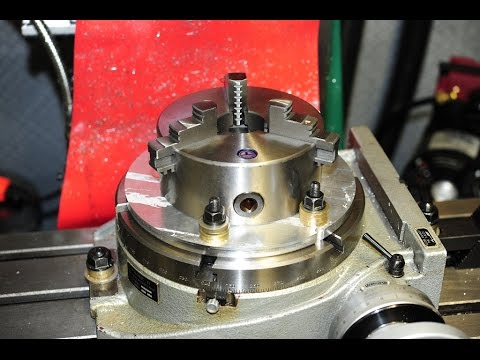 Mating a chuck to a rotary table.