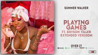 Gambar cover Summer Walker & Bryson Tiller - Playing Games [Extended Version] (Over It)