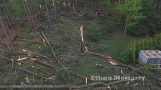 Quinnipiac University Tornado Damage Drone Footage