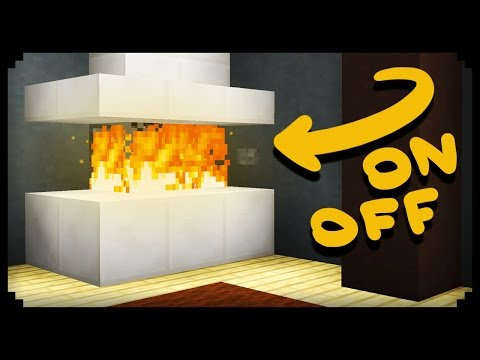Minecraft How To Make Working Fireplace
