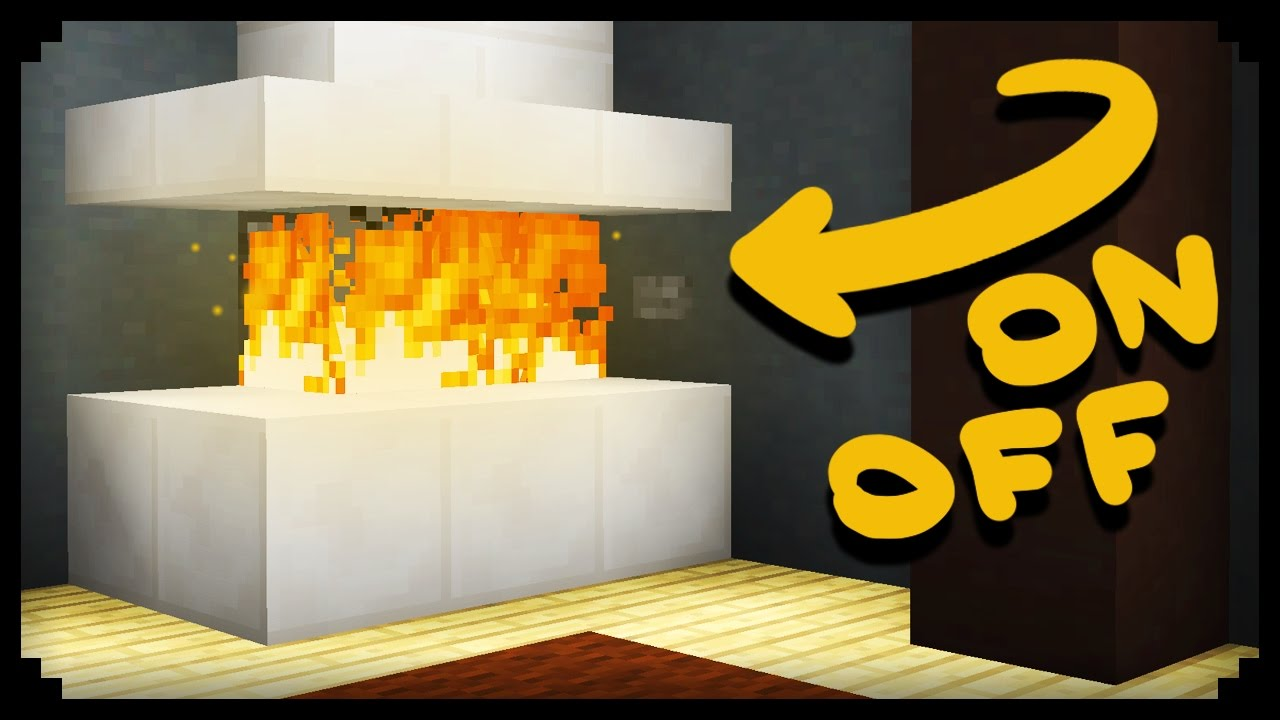 Minecraft How To Make A Working Fireplace Youtube