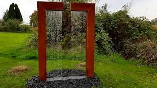 Cortenstahl Wassertor Iva
