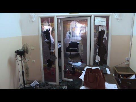 مجهولون يعتدون على مبنى هيئة اذاعة وتلفزيون فلسطين الرسمي في غزة