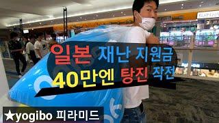 #일본재난지원금 40만엔 탕진하기 yogibo「피라미드…