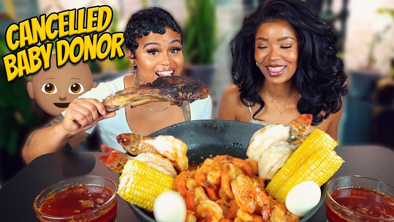 LOBSTER & STEAK SEAFOOD BOIL FEAST + CUTTING TIES WITH OUR ALMOST BABY DONOR!